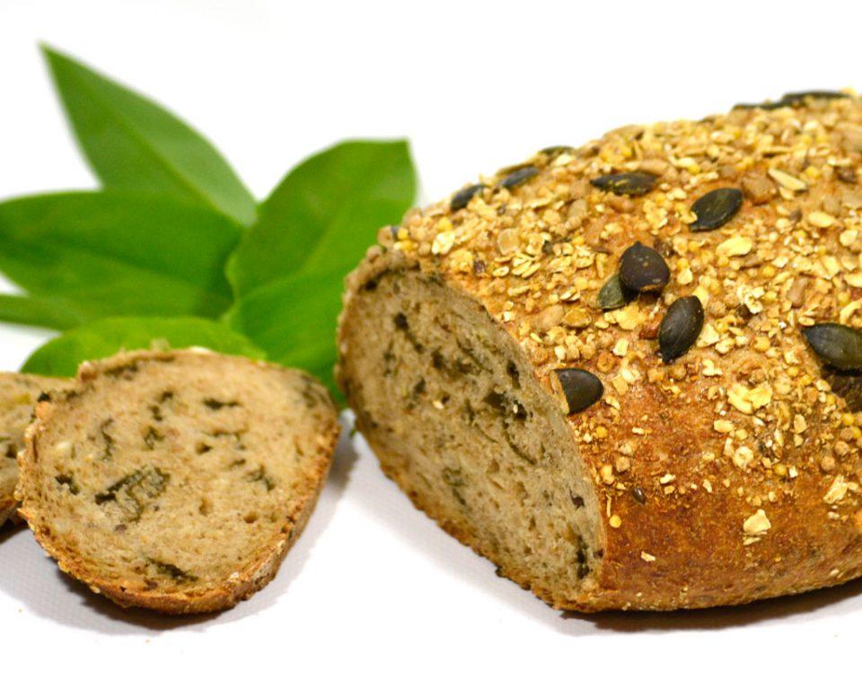 Brot mit Bärlauch